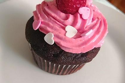 Schoko-küsst-Himbeer Cupcakes 6