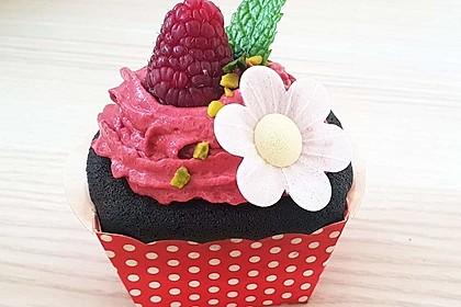 Schoko-küsst-Himbeer Cupcakes 16