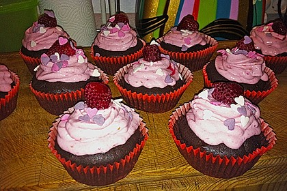 Schoko-küsst-Himbeer Cupcakes 76