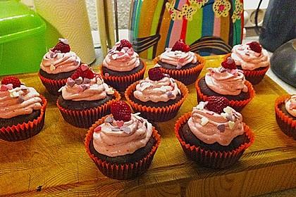 Schoko-küsst-Himbeer Cupcakes 123