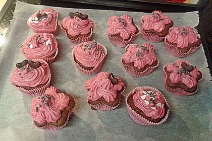 Schoko-küsst-Himbeer Cupcakes 124