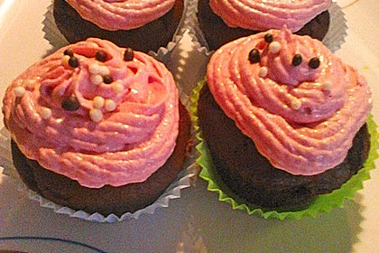 Schoko-küsst-Himbeer Cupcakes 132