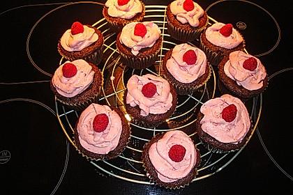 Schoko-küsst-Himbeer Cupcakes 118