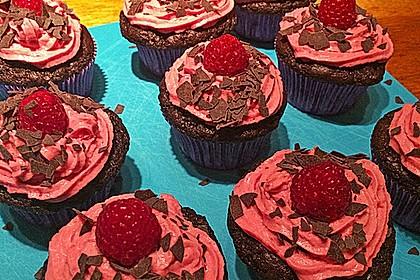 Schoko-küsst-Himbeer Cupcakes 47