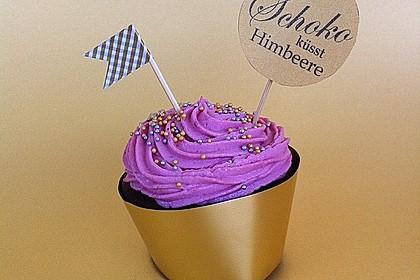Schoko-küsst-Himbeer Cupcakes 27