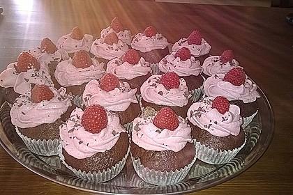 Schoko-küsst-Himbeer Cupcakes 46