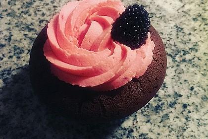 Schoko-küsst-Himbeer Cupcakes 19