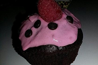 Schoko-küsst-Himbeer Cupcakes 117