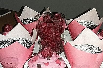 Schoko-küsst-Himbeer Cupcakes 136
