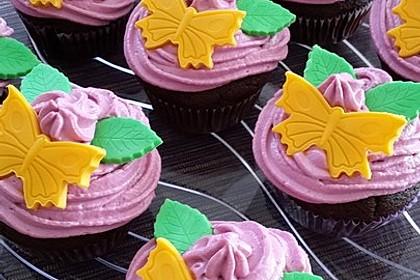 Schoko-küsst-Himbeer Cupcakes 28