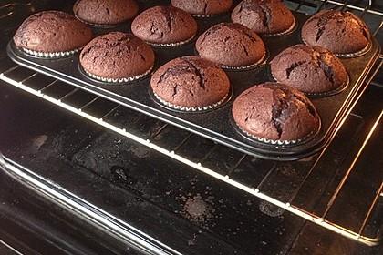 Schoko-küsst-Himbeer Cupcakes 74