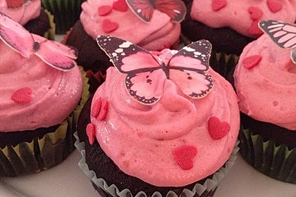 Schoko-küsst-Himbeer Cupcakes 13