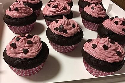 Schoko-küsst-Himbeer Cupcakes 93