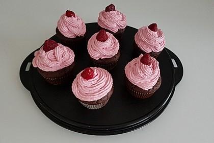 Schoko-küsst-Himbeer Cupcakes 40