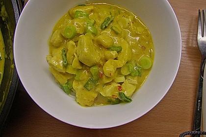 Curry-Hähnchengulasch