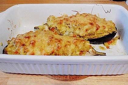 Gefüllte Auberginen mit Pastinaken, Karotten und Hirse 1