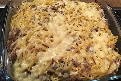 Leckerer Hack-Hollandaise-Auflauf mit Spaghetti 2