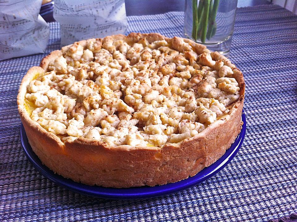 Cremiger Apfel Pudding Kuchen Mit Zimt Von Wildwiese Chefkoch De