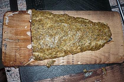 Mustard Salmon on Cedar Wood