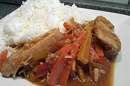 Asiatische Tofu-Gemüse-Pfanne mit Ingwer und Honig 2
