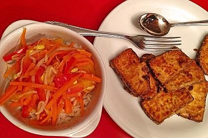 Asiatische Tofu-Gemüse-Pfanne mit Ingwer und Honig 3
