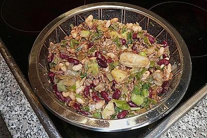 Bohnen-Lauch-Salat mit Mett 1