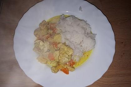 Pute mit Orangen-Curry-Basmatireis