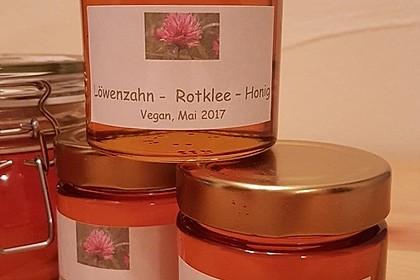 Löwenzahn-Rotkleeblüten-Honig