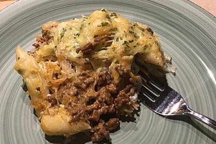 Schupfnudel-Auflauf mit Sauerkraut