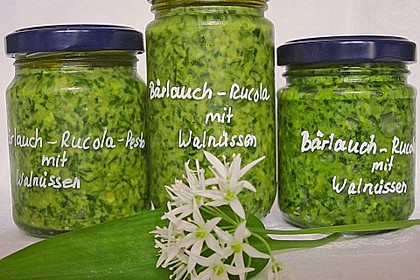 Bärlauch-Rucola Pesto 1