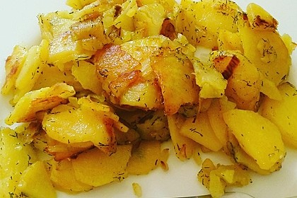 Bratkartoffeln aus rohen Kartoffeln 11