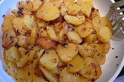 Bratkartoffeln aus rohen Kartoffeln 2