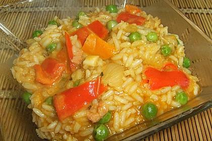 Reis mit Erbsen oder Bohnen 1