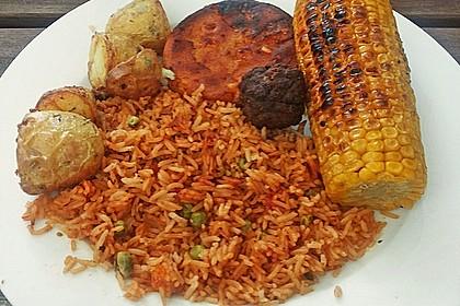 Reis mit Erbsen oder Bohnen 2