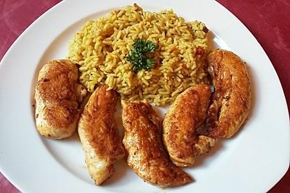 Curryreis mit Hähnchen 3