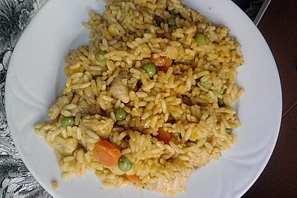 Curryreis mit Hähnchen 5