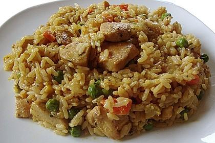 Curryreis mit Hähnchen 2