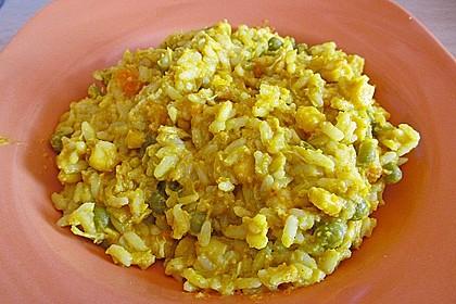 Curryreis mit Hähnchen 4