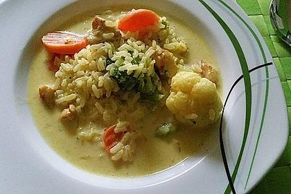 Curryreis mit Hähnchen 1