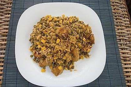 Curryreis mit Hähnchen