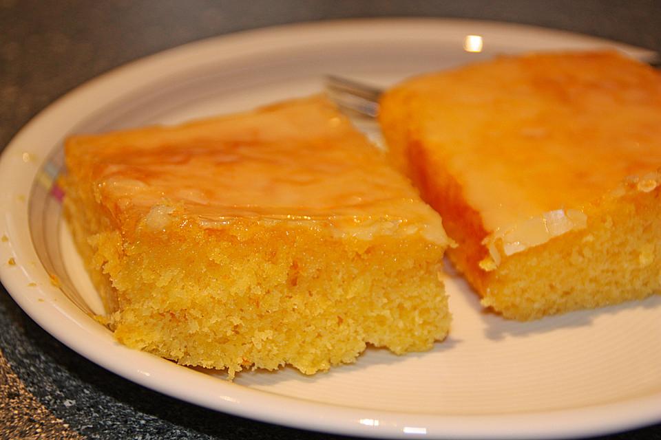 Orangenkuchen Vom Blech Ein Leckeres Rezept Chefkoch De