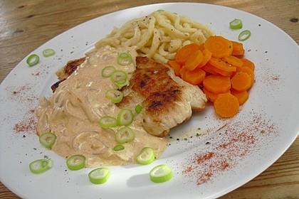 Rahm-Zwiebel-Schnitzel