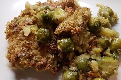 Überbackener Rosenkohl mit Kartoffelkruste 9
