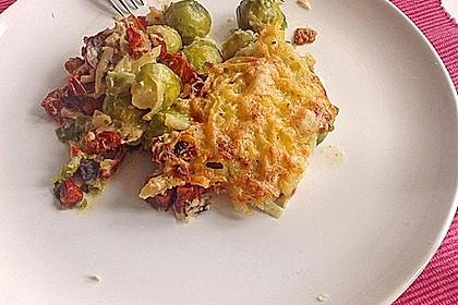 Überbackener Rosenkohl mit Kartoffelkruste 10