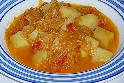 Ungarische Sauerkrautsuppe 4