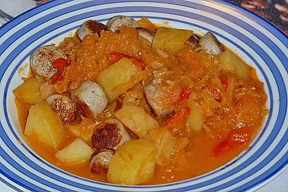 Ungarische Sauerkrautsuppe 3