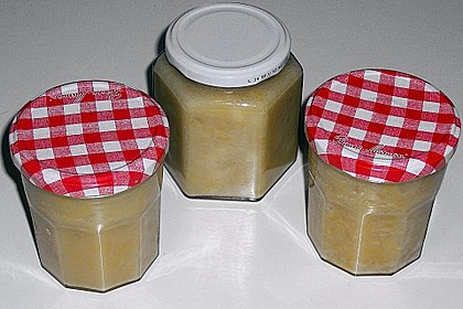 Apfel - Orangen Konfitüre mit Marzipan 2