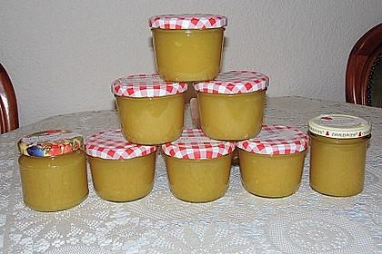 Apfel - Orangen Konfitüre mit Marzipan 3