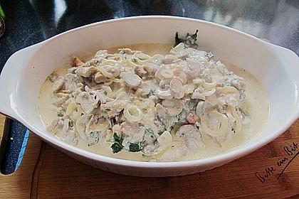 Hähnchenbrustfilets unter Spinat in Gorgonzolasauce 2