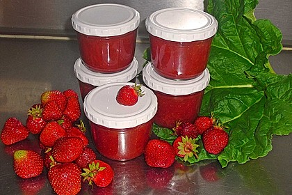 Erdbeer-Rhabarber-Marmelade 6